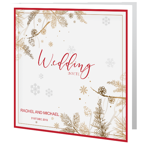 Winter-wedding-cones-day-Invitation-3D-140x-140-Folded
