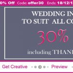 30% OFF All Wedding Stationery