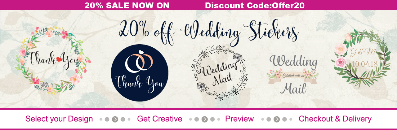 20% OFF wedding invites