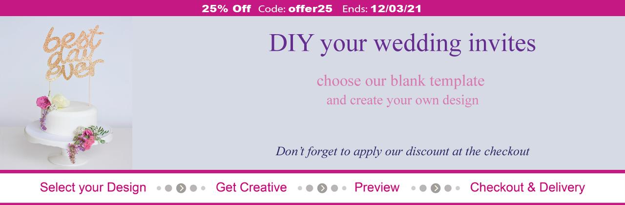 25% OFF All Wedding Stationery